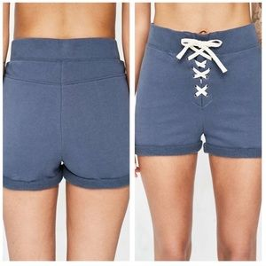 Urban outfitters BDG cotton navy lace up shorts